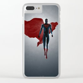Superman Clear iPhone Case