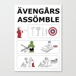 Superheroes Assembling - Colour Canvas Print