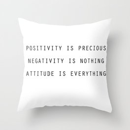 Positivity Throw Pillow