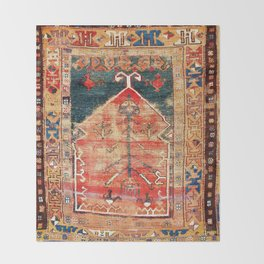 Konya Central Anatolian Niche Rug Print Throw Blanket