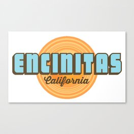 Encinitas - California. Canvas Print