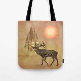 Deer in the autumn Tote Bag