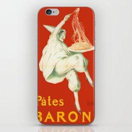 Vintage poster - Pates Baroni iPhone Skin