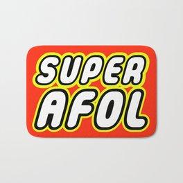 SUPER AFOL in Brick Font Logo Design by Chillee Wilson Bath Mat