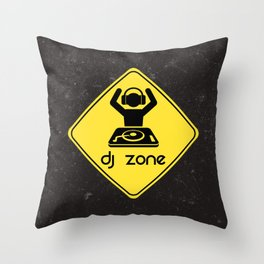 DJ Zone Rave Quote Throw Pillow