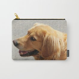 Happy Golden Retriever Carry-All Pouch