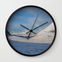 Mountain Snow Wall Clock