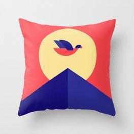 SUNSET BIRD Throw Pillow