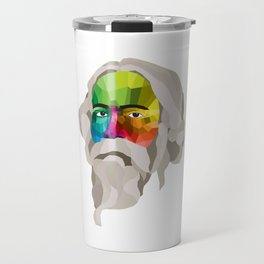 Rabindranath Tagore - popart portrait Travel Mug