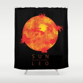 Leo - Ruling Planet Sun Shower Curtain