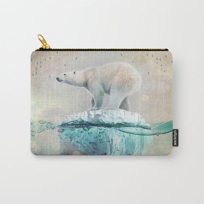 Polar Bear Adrift Carry-All Pouch