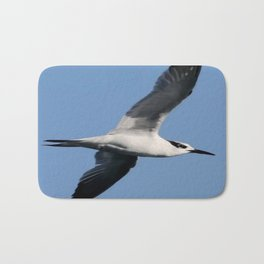 Sandwich Tern In Flight Vector Bath Mat