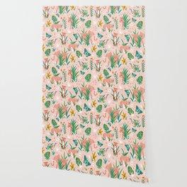 Endangered Wilderness - Blush Pink Wallpaper