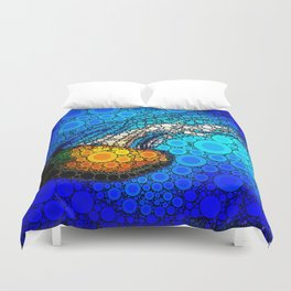Ocean jellyfish photo bubble art | Go with the flow Duvet Cover