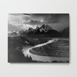 Ansel Adams - The Tetons and Snake River Metal Print