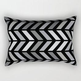 Chevron Black Gray Rectangular Pillow