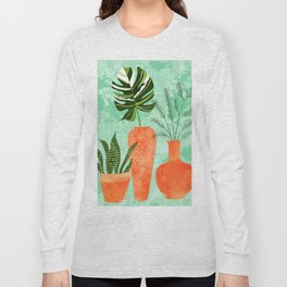 Water My Plants #painting #illustration Long Sleeve T-shirt