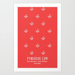 Pynkbook iPhone Art Print