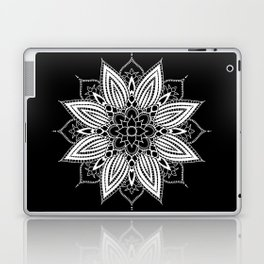 Black and White Flower Mandala Laptop & iPad Skin