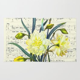 Daffodil Spring Song Rug