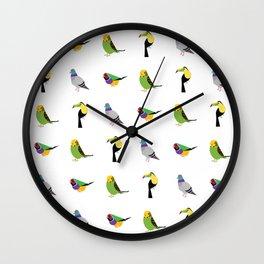 geometric bird print Wall Clock