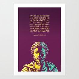 Marcus Aurelius quote: The Power to Revoke Art Print