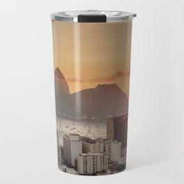 View over Botafogo towards the Sugarloaf Mountain at sunrise, Rio de Janeiro, Brazil Travel Mug