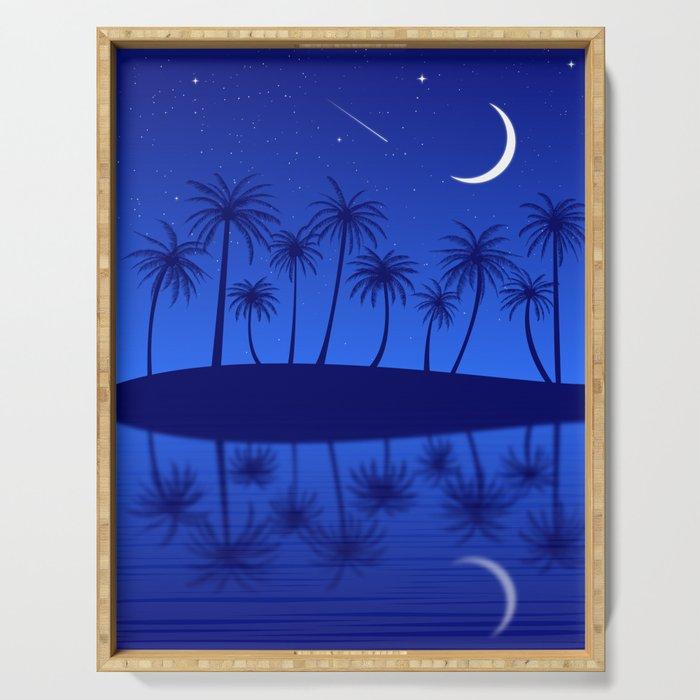 Blue Island Starry Sky Serving Tray
