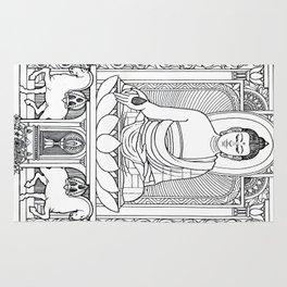 Buddha 02 Black & White Rug