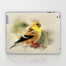 Goldfinch Watercolor Art Laptop & iPad Skin
