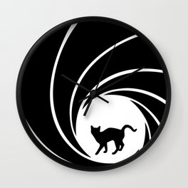 Bond, Kitty Bond Wall Clock