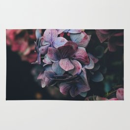 FLOWERS - FLORAL - PINK - RED - PHOTOGRAPHY Rug