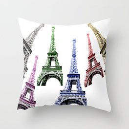 Eiffel Tower Paris Throw Pillow