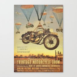 Vintage Motorcycle Show Poster Canvas Print