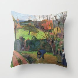 The willow tree  Paul Gauguin Throw Pillow