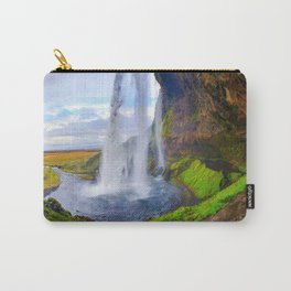 Behind Seljalandsfoss Waterfall in Iceland (1) Carry-All Pouch