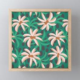 desert palms Framed Mini Art Print