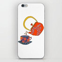 Take Time For Tea iPhone Skin