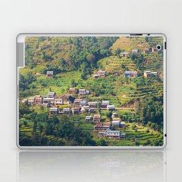 TERRACED HIMALAYAN FOOTHILLS VILLAGE IN NEPAL Laptop & iPad Skin