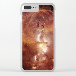 Star Clusters Space Exploration Clear iPhone Case