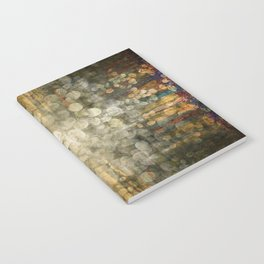 """""""Abstract golden river pebbles"""" Notebook"""