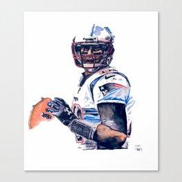 """GOAT"" featuring Legend Tom Brady Canvas Print"