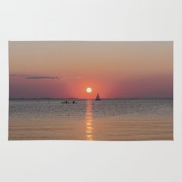 Sailboat Sunset Rug