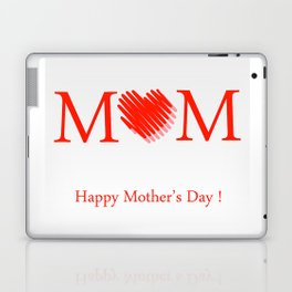 Happy mothers day- Red heart scribbled to form letter O Laptop & iPad Skin