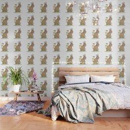 Rabbit Among the Flowers Wallpaper