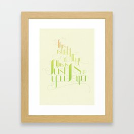 This Is Not Goodbye, This Is Just See You Later Framed Art Print