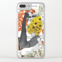 Fonda Flower Collage Clear iPhone Case
