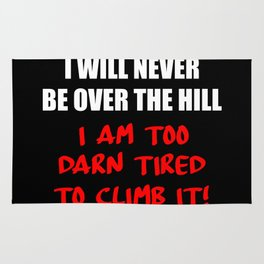 over the hill Rug