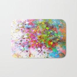 Color Splash abstract art by Ann Powell Bath Mat