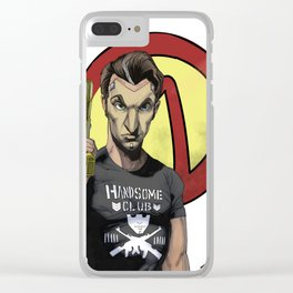 Handsome Jack Bullet Club Clear iPhone Case